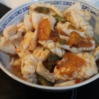 Sweet Squid and Capsicum Stirfry